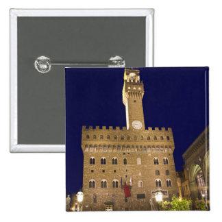 Italy, Tuscany, Florence. Nighttime dining 15 Cm Square Badge