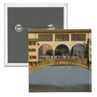 Italy, Tuscany, Florence, The Ponte Vecchio 15 Cm Square Badge