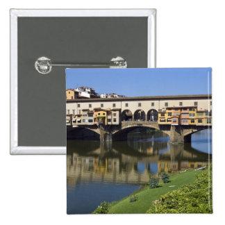 Italy, Tuscany, Florence, The Ponte Vecchio 2 15 Cm Square Badge