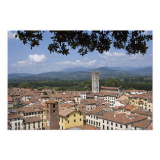 Italy, Tuscany, Lucca, View of the town and 4 Photo