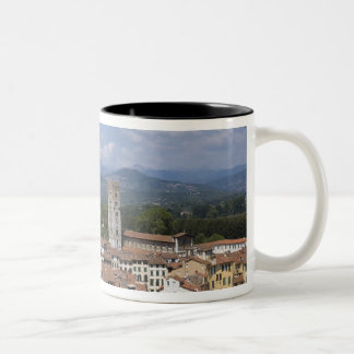 Italy, Tuscany, Lucca, View of the town and 4 Two-Tone Mug