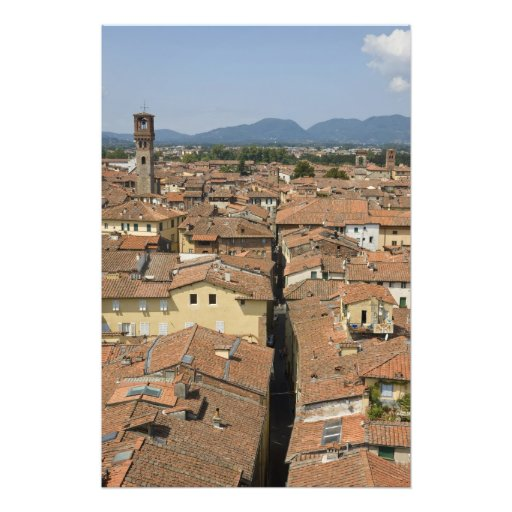 Italy, Tuscany, Lucca, View of the town and Photo Art