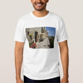 Italy, Tuscany, Pienza. Outer walkway around Tee Shirt