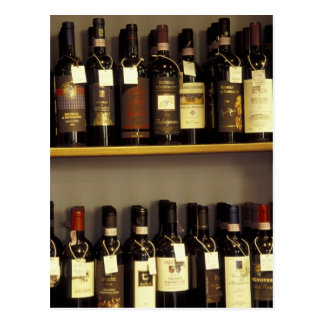 Italy, Tuscany, Pienza Wine display in shop Postcard