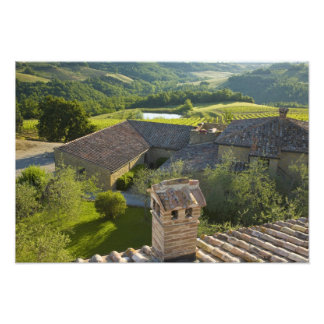 Italy, Tuscany. Roofop view of the villa Photo Art