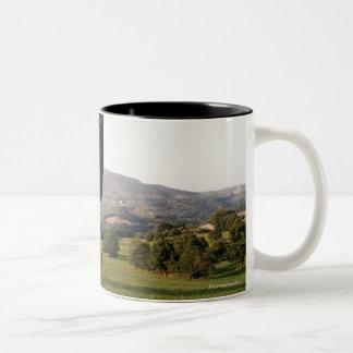 Italy,Tuscany,Val d'Orcia Two-Tone Coffee Mug