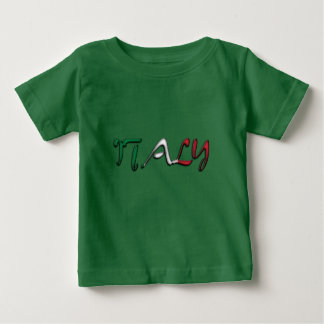 Italy Typography Country Flag Colors Baby T-Shirt