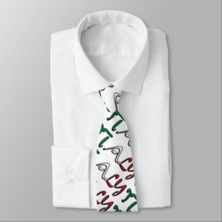 Italy Typography Country Flag Colors Tie