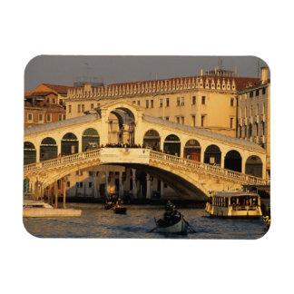 Italy, Veneto, Venice, Canal Grande and Rialto Rectangle Magnet