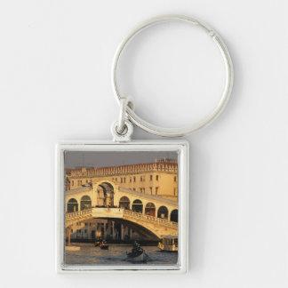Italy, Veneto, Venice, Canal Grande and Rialto Key Chain
