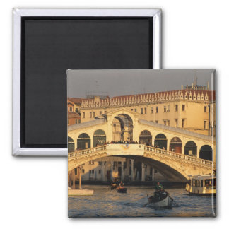Italy, Veneto, Venice, Canal Grande and Rialto Square Magnet