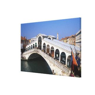 Italy, Veneto, Venice, Rialto Bridge crossing Canvas Prints