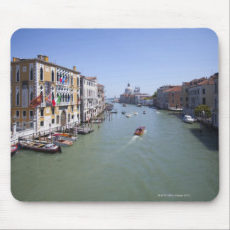 Italy, Venice, Boats on canal in city Mouse Pad