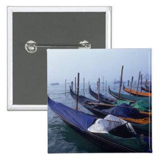 Italy, Venice. Gondolas. 15 Cm Square Badge