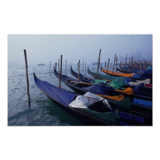 Italy, Venice. Gondolas. Poster