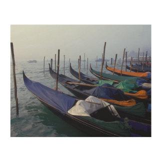 Italy, Venice. Gondolas. Wood Canvas