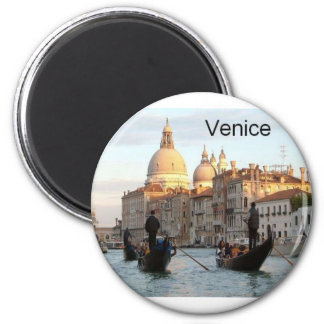 Italy Venice Grand Canal (St.K) 6 Cm Round Magnet