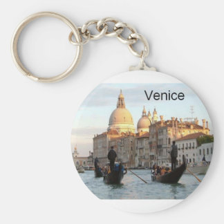 Italy Venice Grand Canal (St.K) Basic Round Button Key Ring