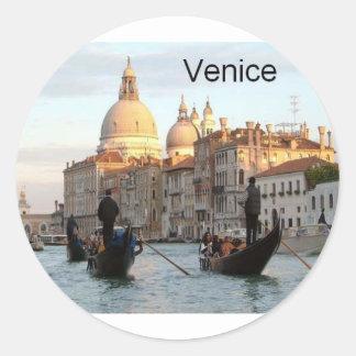 Italy Venice Grand Canal (St.K) Round Sticker