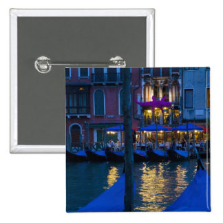 Italy, Venice, Night View Along the Grand 15 Cm Square Badge