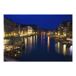 Italy, Venice, Night View Along the Grand 2 Photograph