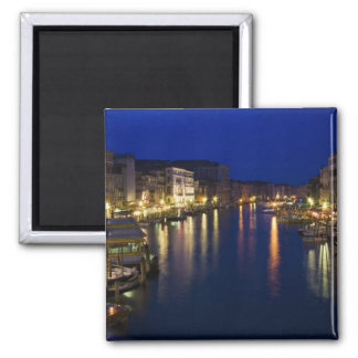 Italy, Venice, Night View Along the Grand 2 Square Magnet