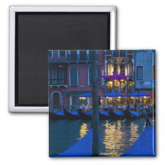 Italy, Venice, Night View Along the Grand Square Magnet