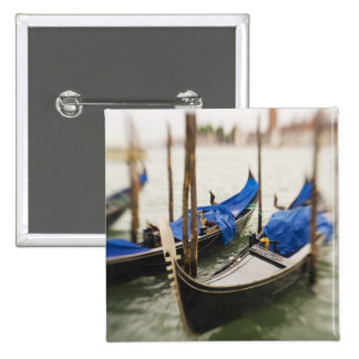 Italy, Venice, Selective Focus of Gondola in the 15 Cm Square Badge