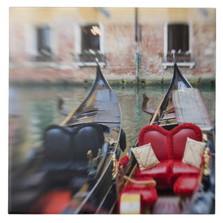Italy, Venice, Selective Focus of Gondola in the 2 Large Square Tile