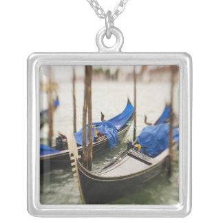 Italy, Venice, Selective Focus of Gondola in the Square Pendant Necklace