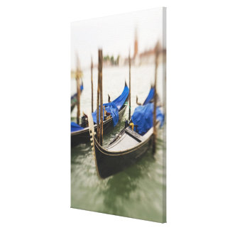 Italy, Venice, Selective Focus of Gondola in the Stretched Canvas Print