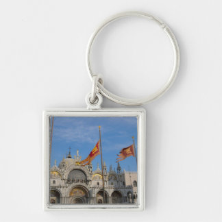Italy, Venice, St. Mark's Basilica in St. Mark's Silver-Colored Square Key Ring