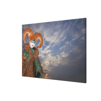 Italy, Venice. Woman dressed in costume for Canvas Prints