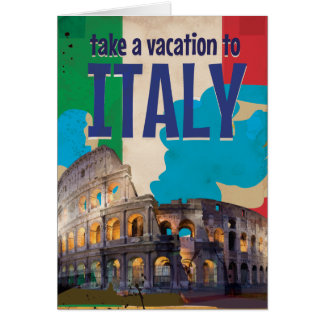 Italy Vintage Travel poster Card