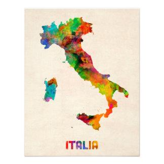 Italy Watercolor Map Italia Announcement