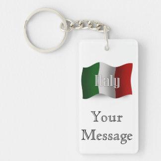 Italy Waving Flag Key Ring