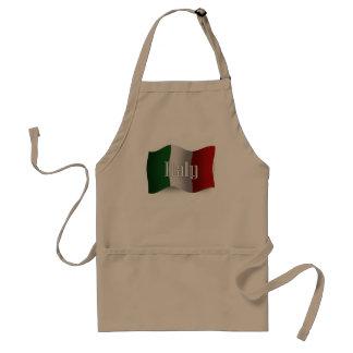 Italy Waving Flag Standard Apron