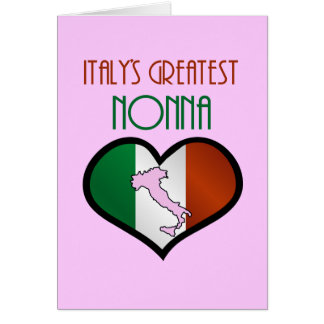 Italys Greatest Nonna Greeting Card