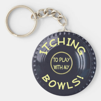 ITCHING BOWLS! BASIC ROUND BUTTON KEY RING