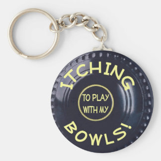 Itching To Play With My Bowls Basic Round Button Key Ring