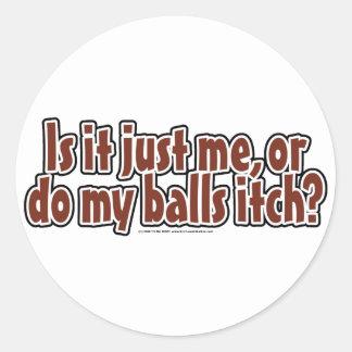 Itchy Balls Round Sticker