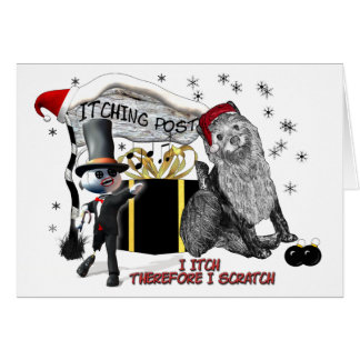 Itchy Christmas1 Greeting Card