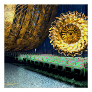 Item 031514 Gold Wall Gold Gear Poster