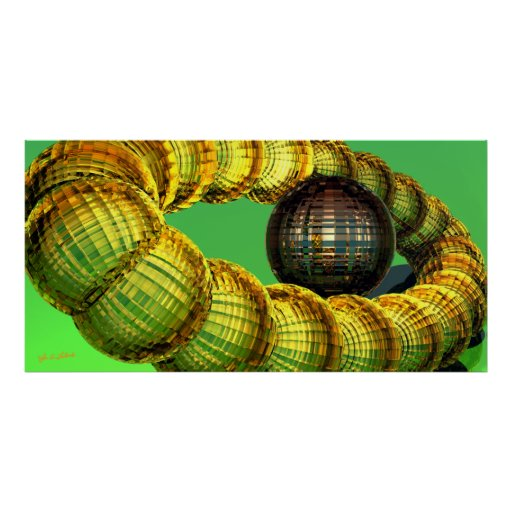 Item 061414 Abstract Digital 3D Posters