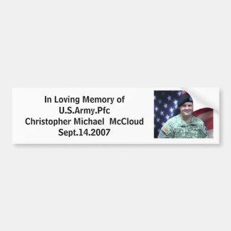item, In Loving Memory ofU.S.Army.... - Customized Bumper Sticker