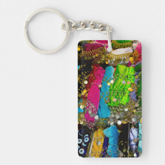 Items For Sale In Spice Market, Istanbul, Turkey Double-Sided Rectangular Acrylic Key Ring