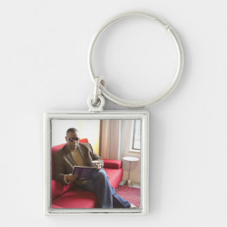 Items for sale Silver-Colored square key ring