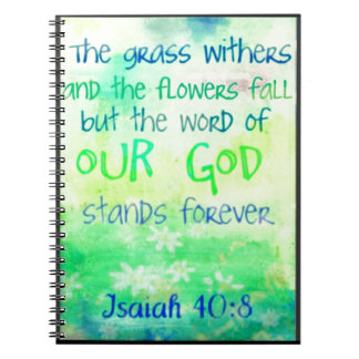 Items with colorful scripture design notebooks