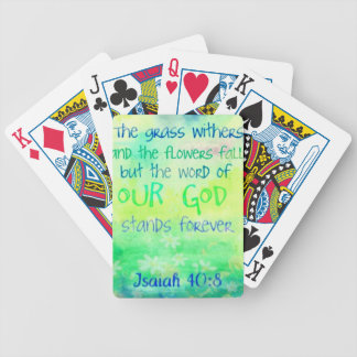 Items with colorful scripture design poker deck