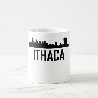 Ithaca New York City Skyline Coffee Mug